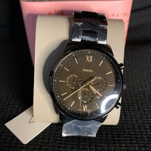 Black Men's Fossil Watch